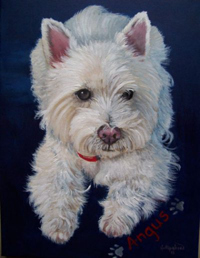 West-Highland-Terrier-painting-on-canvas-acrylic-paint